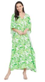 Green Maxi Kaftan Dress - Plus - 7