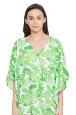 Green Maxi Kaftan Dress - Plus - 3