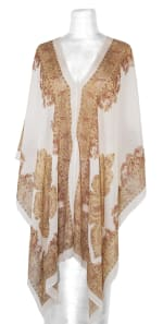 Multicolored Beach Cover-Up - White - Front