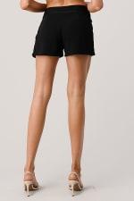 Kaii Rhine Stone Pocket Detail Shorts - Black - Back
