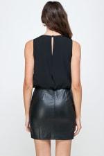 Kaii Beaded Stripe Leathered Bottom Dress - 2