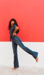 Denim Kira Short Sleeved Jumpsuit - 2