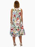 Garden Party Jacquard Midi Dress - 2