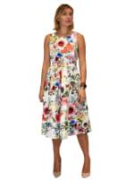 Garden Party Jacquard Midi Dress - 1