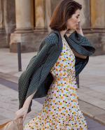 Audrey Drop Shoulder Jewel Neck Elastic Waist Ruffle Dress - 5