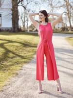Nicole Jewel Neck Wrap Jumpsuit - 5