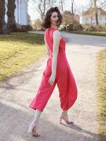Nicole Jewel Neck Wrap Jumpsuit - 2