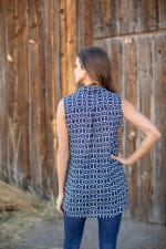 """Chain Print """"To Tie Or Not To Tie"""" Shirt - Misses - 2"""