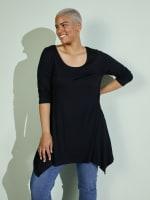 Makayla 3/4 Sleeve Tunic Top - Plus - 4