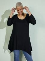 Makayla 3/4 Sleeve Tunic Top - Plus - 1