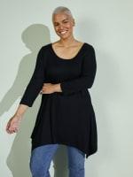 Makayla 3/4 Sleeve Tunic Top - Plus - 3