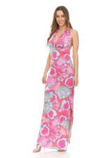 Printed Halter Maxi Dress - 1