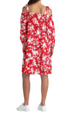 Gigi Parker Floral Silhouette Barbados Cherry Dress - Floral Silhouette Barbados Cherry - Back