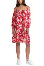 Gigi Parker Floral Silhouette Barbados Cherry Dress - Floral Silhouette Barbados Cherry - Front