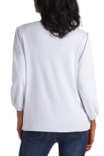 Isaac Mizrahi Puff Sleeve Cotton Pullover Top - 5