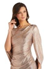 Long Dress with Back Drape Sleeves - 3