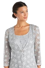 Fishtail Lace Jacket Dress - 5