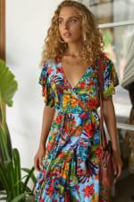 Carmen Wrap Maxi Dress - Plus - 8