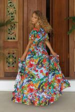 Carmen Wrap Maxi Dress - Plus - 6