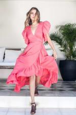 Carmen Wrap Maxi Dress - 13