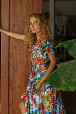 Carmen Wrap Maxi Dress - Plus - 9