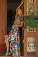 Carmen Wrap Maxi Dress - Plus - 10