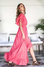 Carmen Wrap Maxi Dress - 14