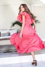 Carmen Wrap Maxi Dress - 12