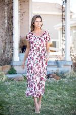 Vienna Wine Floral Maxi Dress - 3