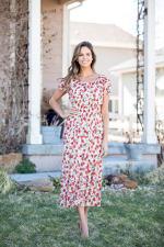 Vienna Poppy Maxi Peasant Dress - 3