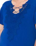 Westport Crochet Trim Flutter Sleeve Knit Top - Plus - 10