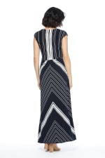 Lina Short Sleeve Maxi Dress with Twist Bodice - 2