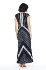 Lina Short Sleeve with Twist Bodice Maxi Dress - Petite - 2