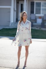 Odessa Ivory Embroidered  Baby Doll Dress - 3