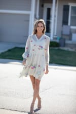 Odessa Ivory Embroidered  Baby Doll Dress - 5
