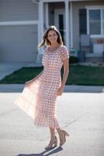 Vienna Batik Maxi Peasant Dress - 5
