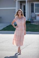 Vienna Batik Maxi Peasant Dress - 1