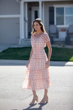 Vienna Batik Maxi Peasant Dress - 4