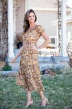 Vienna Buttercup Maxi Peasant Dress - 3
