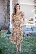 Vienna Buttercup Maxi Peasant Dress - 6