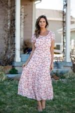 Vienna Vine Floral Maxi Peasant Dress - 7