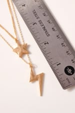 Star Thunder Bolt Charms Layered Necklace - 3