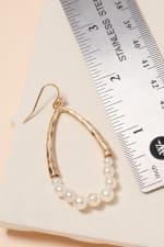 Pearls Tear Drop Dangling Earrings - 3