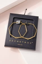 Secret Box Gold Dip Hoop Earrings - 1