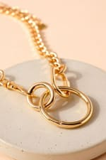 Ring Charm Chain Linked Necklace - 3