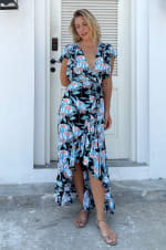Carmen Wrap Maxi Dress  - Plus - 4