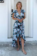 Carmen Wrap Maxi Dress  - Plus - 1