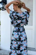 Carmen Wrap Maxi Dress  - Plus - 5
