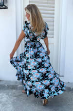 Carmen Wrap Maxi Dress  - Plus - 2