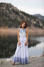 Adler Mixed Print Maxi Button Front Dress - 3